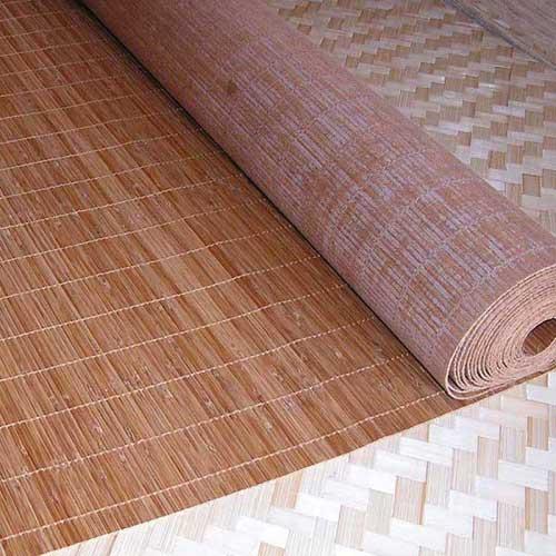 Бамбуковые обои с нитью 4,8 мм КОФЕ 180 см