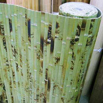 Бамбуковые обои зелёные с рисунком 17 мм