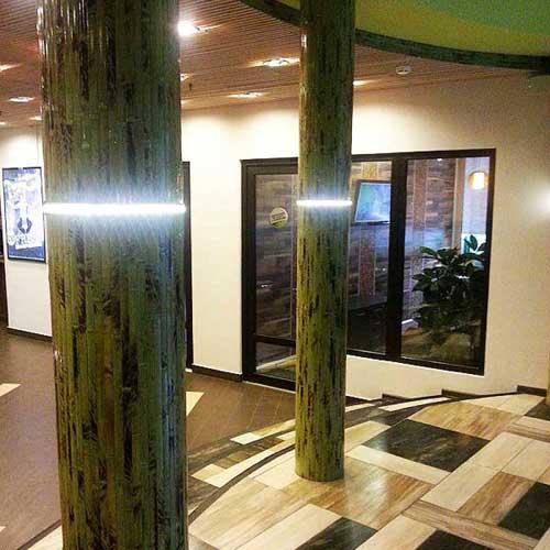 Бамбуковые обои зелёные с рисунком фото 1