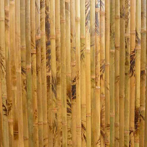 Бамбуковые обои коричневые с рисунком 150 см