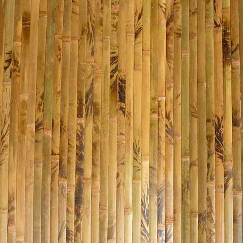Бамбуковые обои коричневые с рисунком 180 см