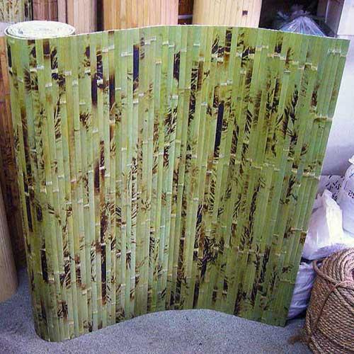 Бамбуковые обои зелёные с рисунком 180 см