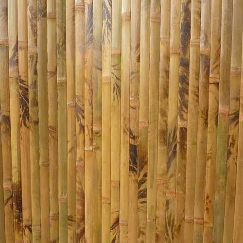 Бамбуковые обои коричневые с рисунком 250 см