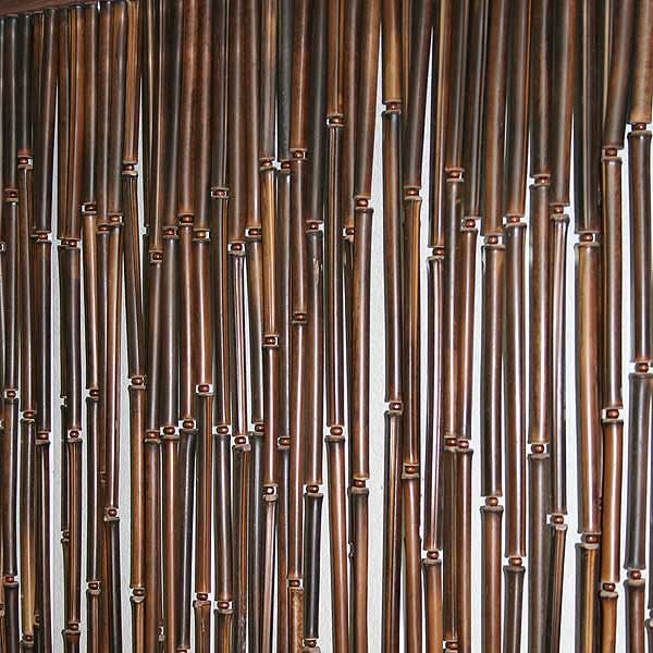 Бамбуковая штора тёмная по размеру