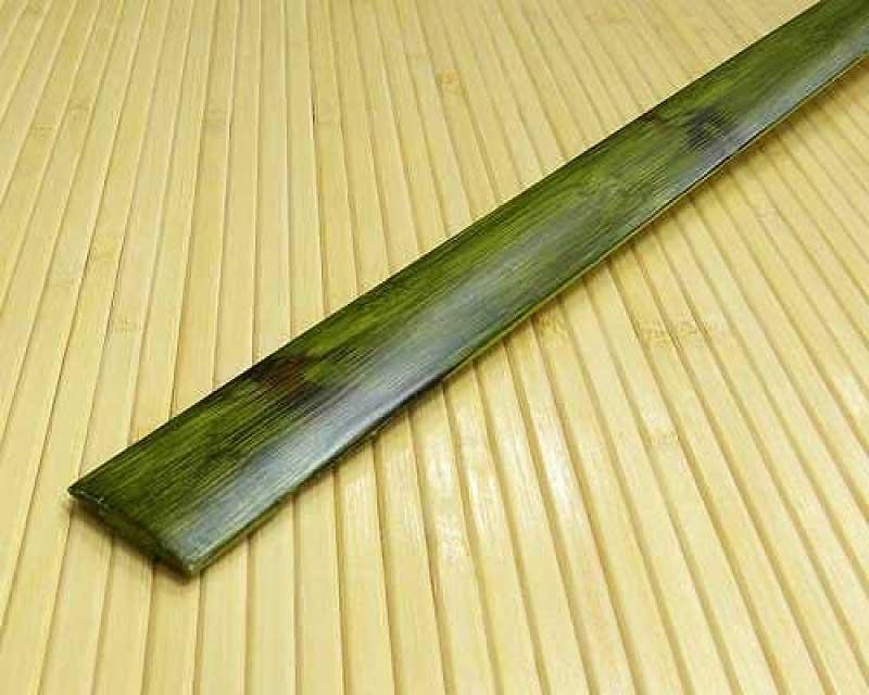 Стыковочная планка из бамбука Зелёная с рисунком
