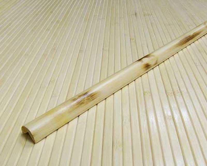 Планка бамбуковая для внешнего угла натуральная с рисунком