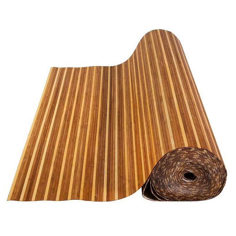 Бамбуковые обои полосатые 90 см