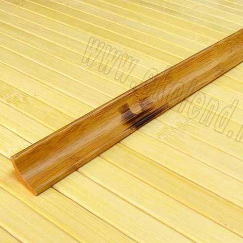 Плинтус из бамбука коричневый с рисунком