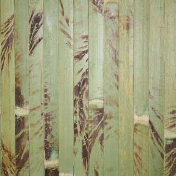 Бамбуковые обои зелёные с рисунком 150 см