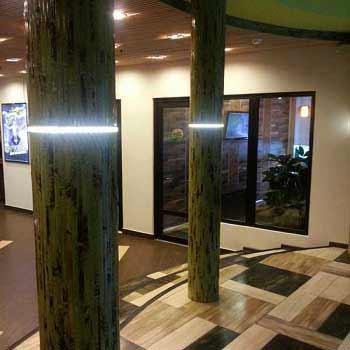 Бамбуковые обои зелёные с рисунком 200 см
