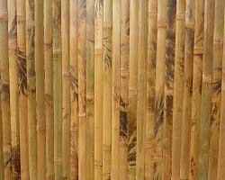 Бамбуковые обои коричневые с рисунком 200 см