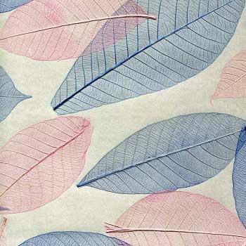 Натуральные обои Листья Прима Азуль 5,5 м