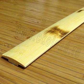 Стыковочная планка из бамбука натуральная с рисунком