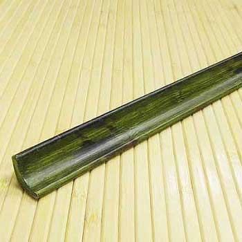 Плинтус из бамбука Зелёный с рисунком