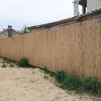 Тростниковый забор 160 x 300 см