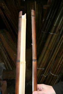 Конечный результат колки бамбука