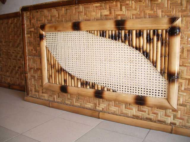Бамбуковые панели Рогожка