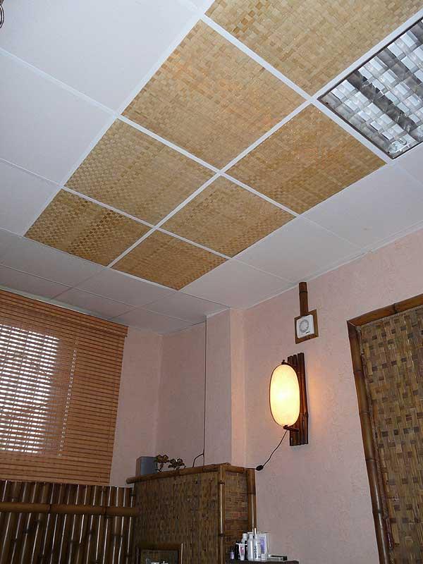 Бамбуковые панели на потолке АРМСТРОНГ