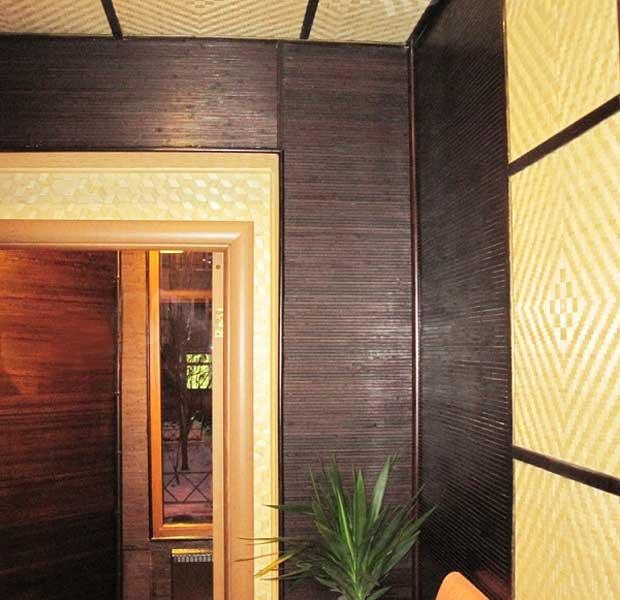Панели из бамбука и бамбуковые обои Венге