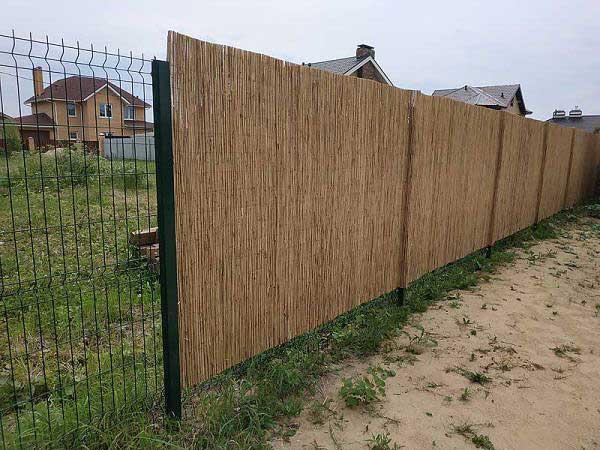 Забор из тростниковых матов