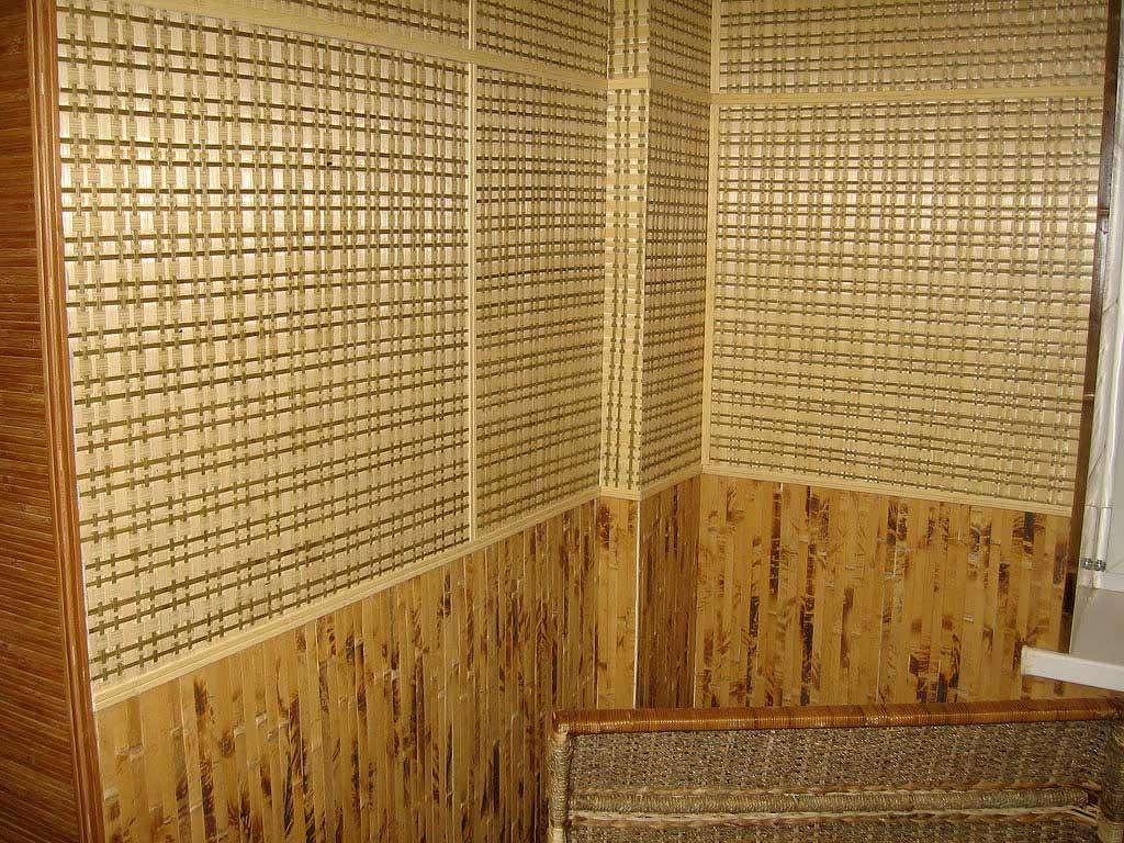 Обои из бамбука - бамбуковые обои и бамбуковые панели.