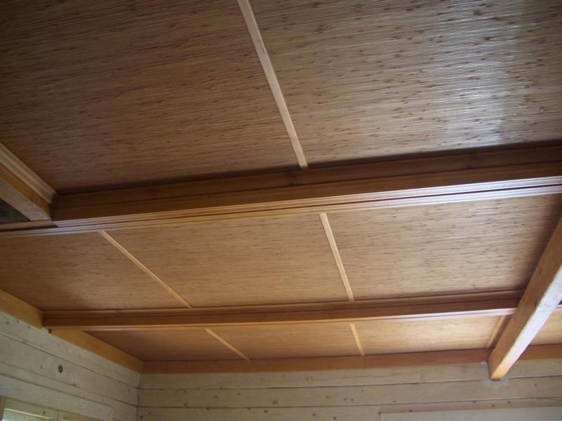 Бамбуковое полотно Коньяк, Кофе на потолке