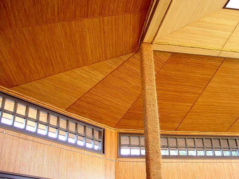 Бамбук обои Кофе на потолке