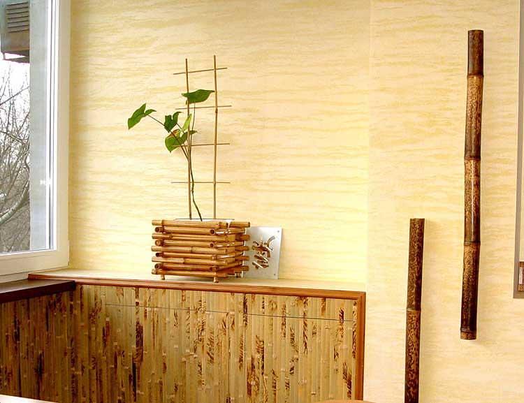 Обои из внешней части бамбука