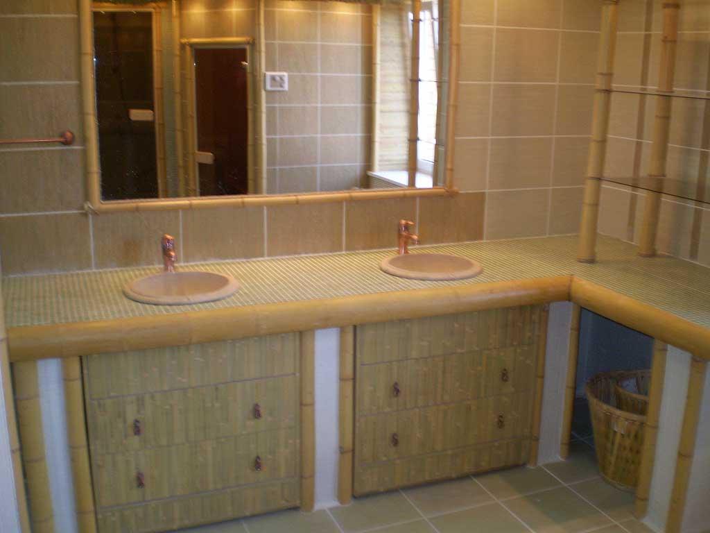 Бамбук в интерьере ванной комнаты