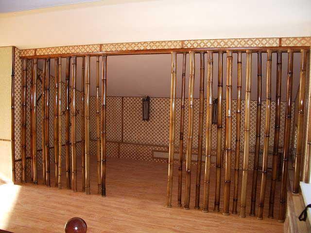 Перегородка из натурального бамбука