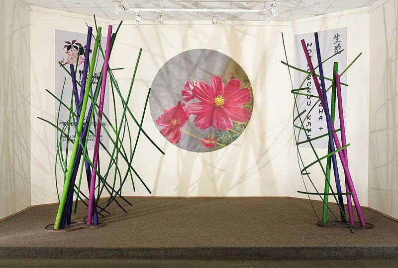 Инсталляция из бамбука.