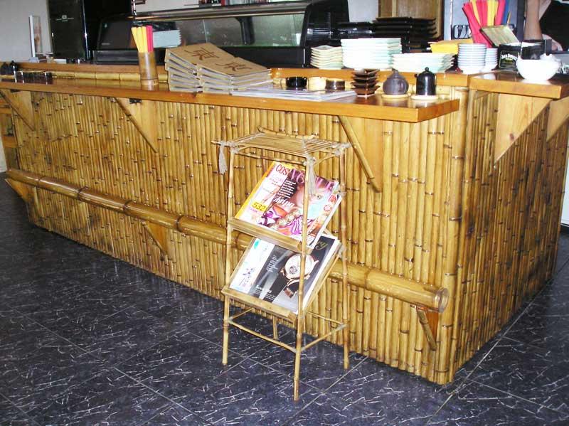 Бамбуковая барная стойка