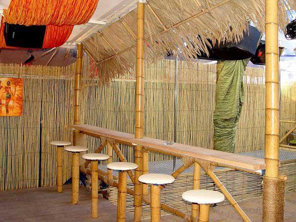 Бамбук в интерьере. Бамбуковый забор.