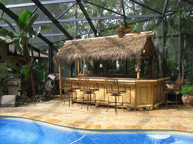 Бамбук, бамбуковые обои и пальмовые листья