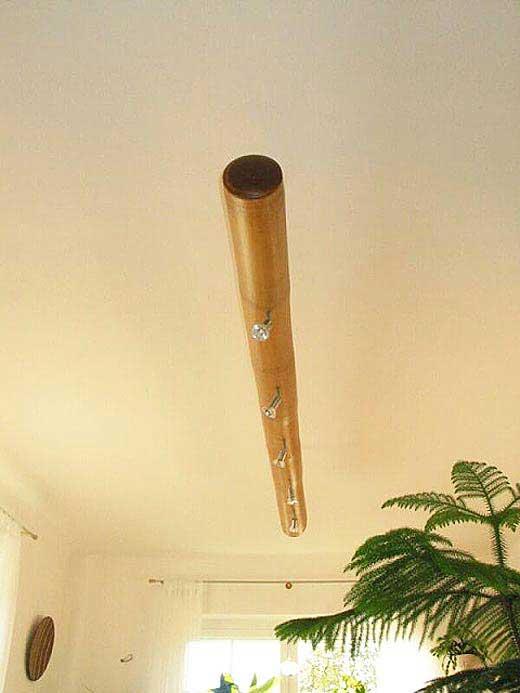 Бамбук в качестве люстры