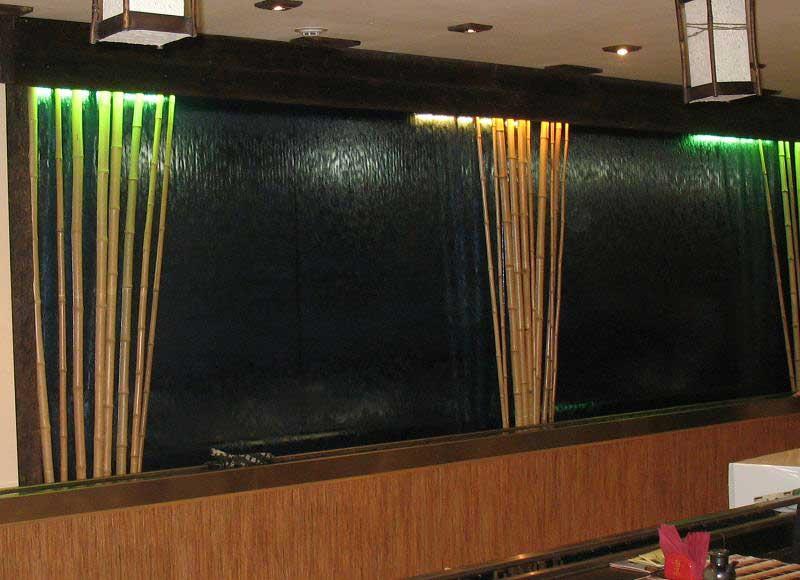 Бамбук в интерьере кафе