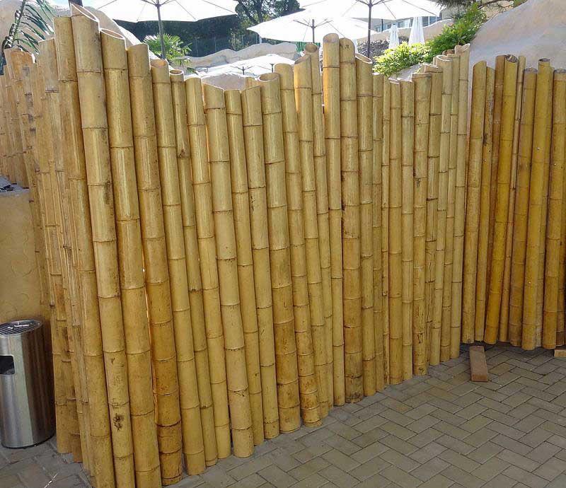 Бамбуковый забор. Бамбуковые изгороди.