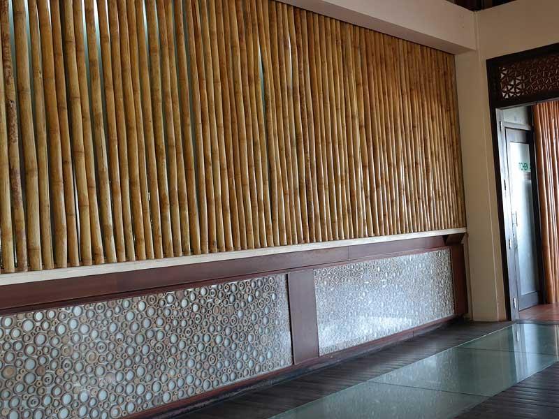 Бамбук в интерьере ресторана