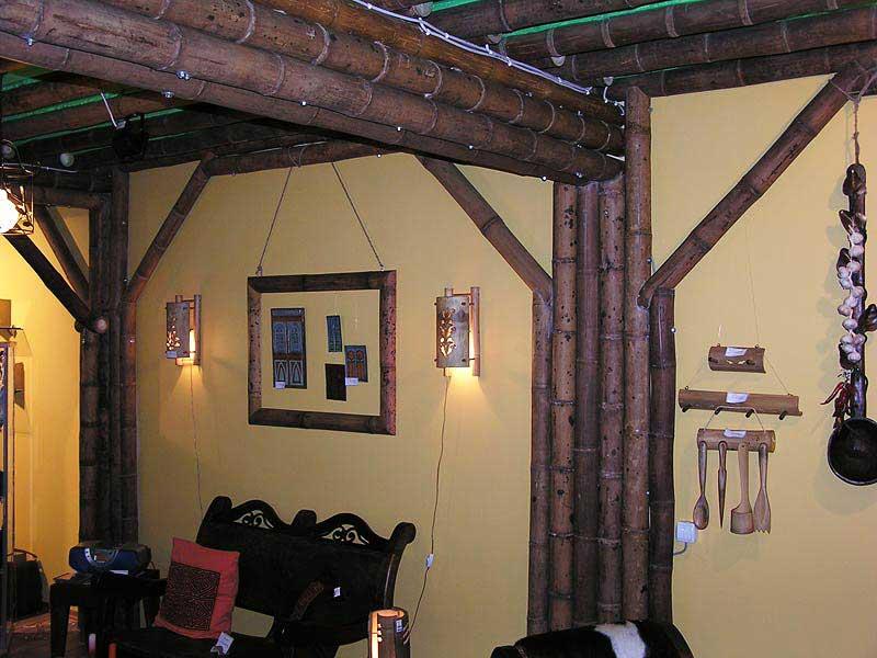 Панамский бамбук в оформлении магазина