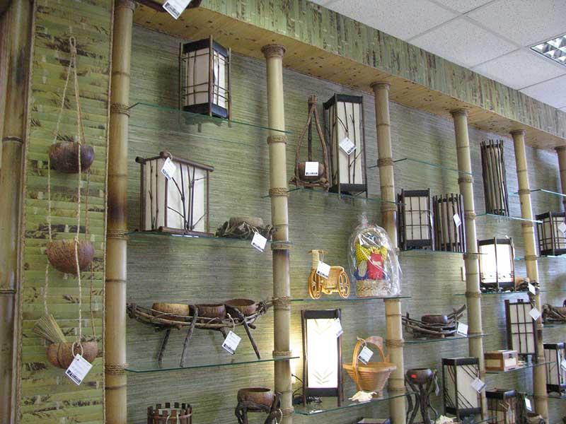 Бамбук и бамбуковые обои в оформлении витрины