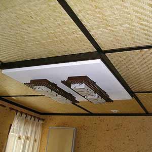 Бамбуковые панели потолок