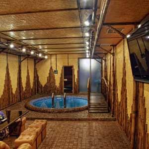 Бамбук в интерьере сауны