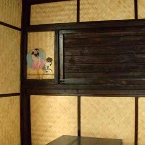 бамбуковые панели в чайном домике