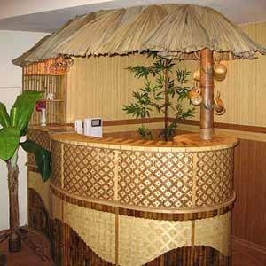 Декоративный навес из<br />пальмового листа