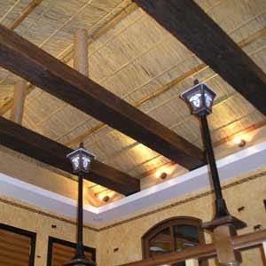 Потолок из тростника