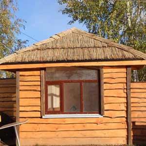 Крыша из Тростника в оформлении дома