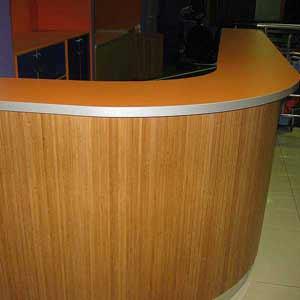 Бамбуковые обои стойка регистратуры