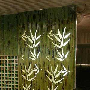 Бамбуковые обои с подсветкой