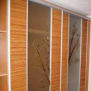 Бамбук в отделке фасадов шкафов