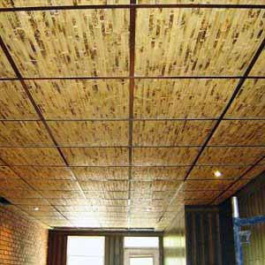 Бамбуковое полотно желтая черепаха на потолке